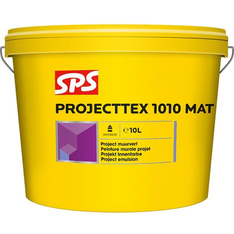 SPS 1010 Projecttex Mat Project Muurverf Wit 10L