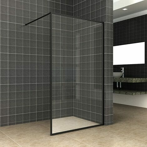 Square inloopdouche 10mm NANO mat-zwart 1