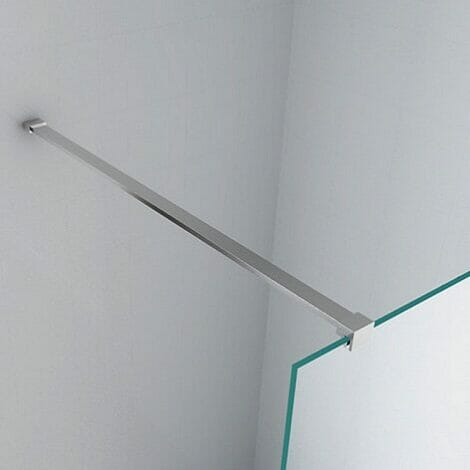 Wiesbaden Safety Glass inloopdouche met muurprofiel 10mm NANO coating 3