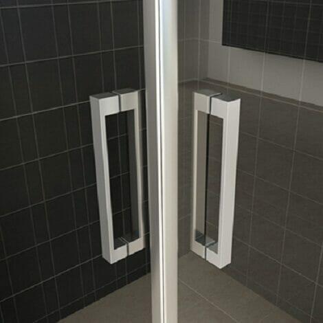 Wiesbaden douchecabine dubbele swingdeur 8mm glas chroom NANO coating 2