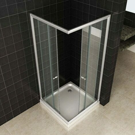 Wiesbaden douchecabine hoekinstap eco 5mm helder glas 2