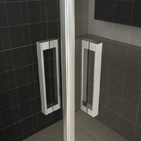 Wiesbaden douchecabine hoekinstap met 2 draaideuren 8mm glas chroom NANO 2