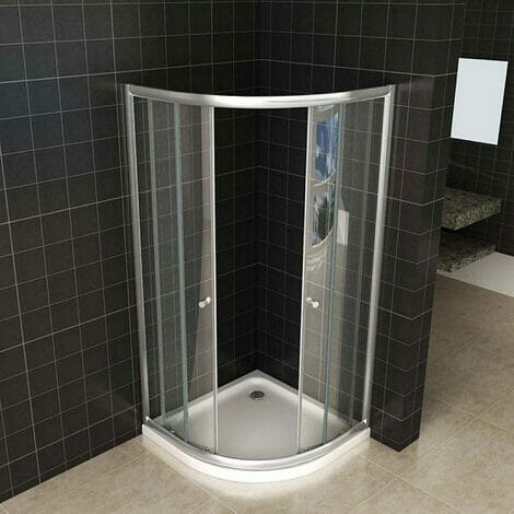 Wiesbaden douchecabine kwartrond eco 5mm helder glas 2