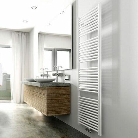 Wiesbaden handdoekradiator Elara wit 1185x600 mm 700W middenonderaansluiting