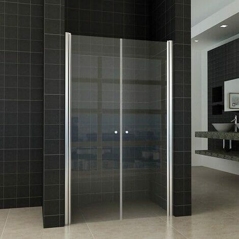 Wiesbaden nisdeur pendeldeur 120x200cm 6mm helder glas NANO coating