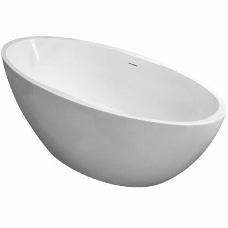 Wiesbaden oval vrijstaand ligbad acryl 170x78 cm mat wit 2