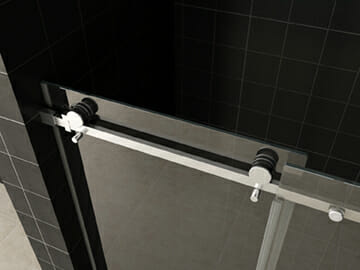 Wiesbaden schuifbare nisdeur 2 delig helder glas 8mm NANO 2