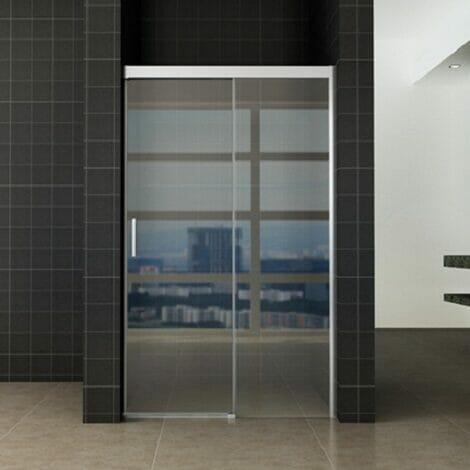 Wiesbaden softclose 2.0 douchedeur 100x200cm 8mm helder glas NANO coating