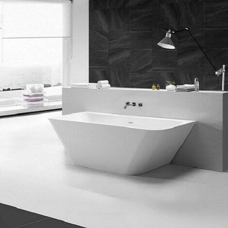 Wiesbaden solid surface half vrijstaand bad 179x84.5x57.5 cm 1
