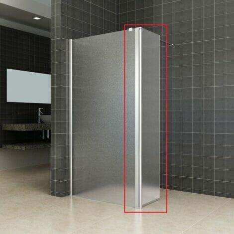 Wiesbaden zijwand voor Inloopdouche met Links Scharnierend Profiel 10mm geheel matglas NANO coating 1