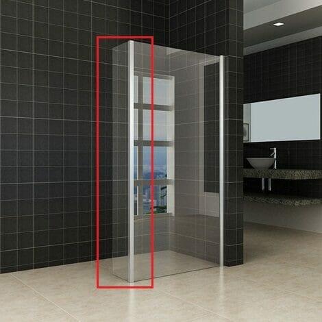 Wiesbaden zijwand voor inloopdouche met hoekprofiel 30x200cm 10mm helder glas NANO coating 1 (1)