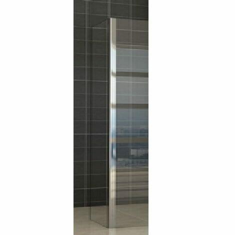 Wiesbaden zijwand voor inloopdouche met hoekprofiel 30x200cm 10mm helder glas NANO coating 3
