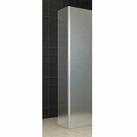 Wiesbaden zijwand voor inloopdouche met hoekprofiel 35x200cm 10mm volledig matglas NANO coating 1