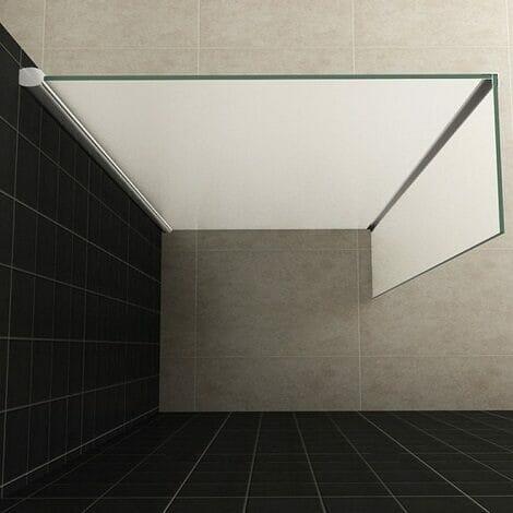 Wiesbaden zijwand voor inloopdouche met hoekprofiel 35x200cm 10mm volledig matglas NANO coating 2