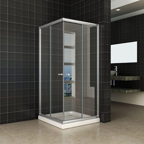 Wiesbaden douchecabine hoekinstap eco 100x100x190cm met 5mm helder glas