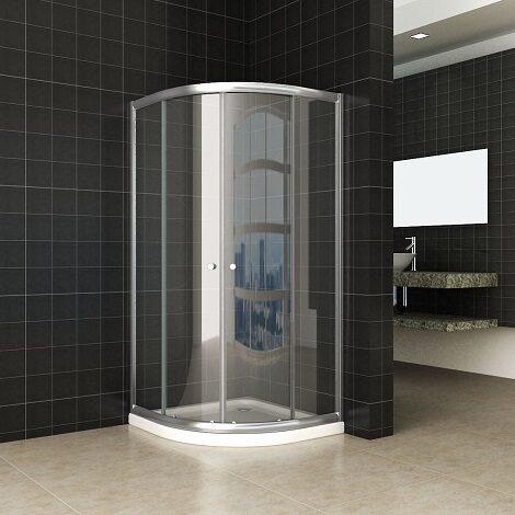 Wiesbaden douchecabine kwartrond eco 100x100x190cm met 5mm helder glas