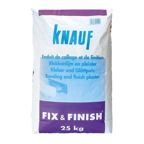 Knauf Fix & Finish Wit Gipsmortel 25 kg