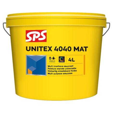 SPS 4040 Unitex Mat Muurverf Wit 4L
