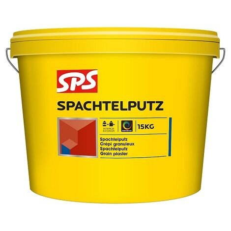 SPS Spachtelputz binnen- buitenkwaliteit 1.2 mm wit 15kg